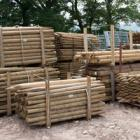 Stock of fence posts